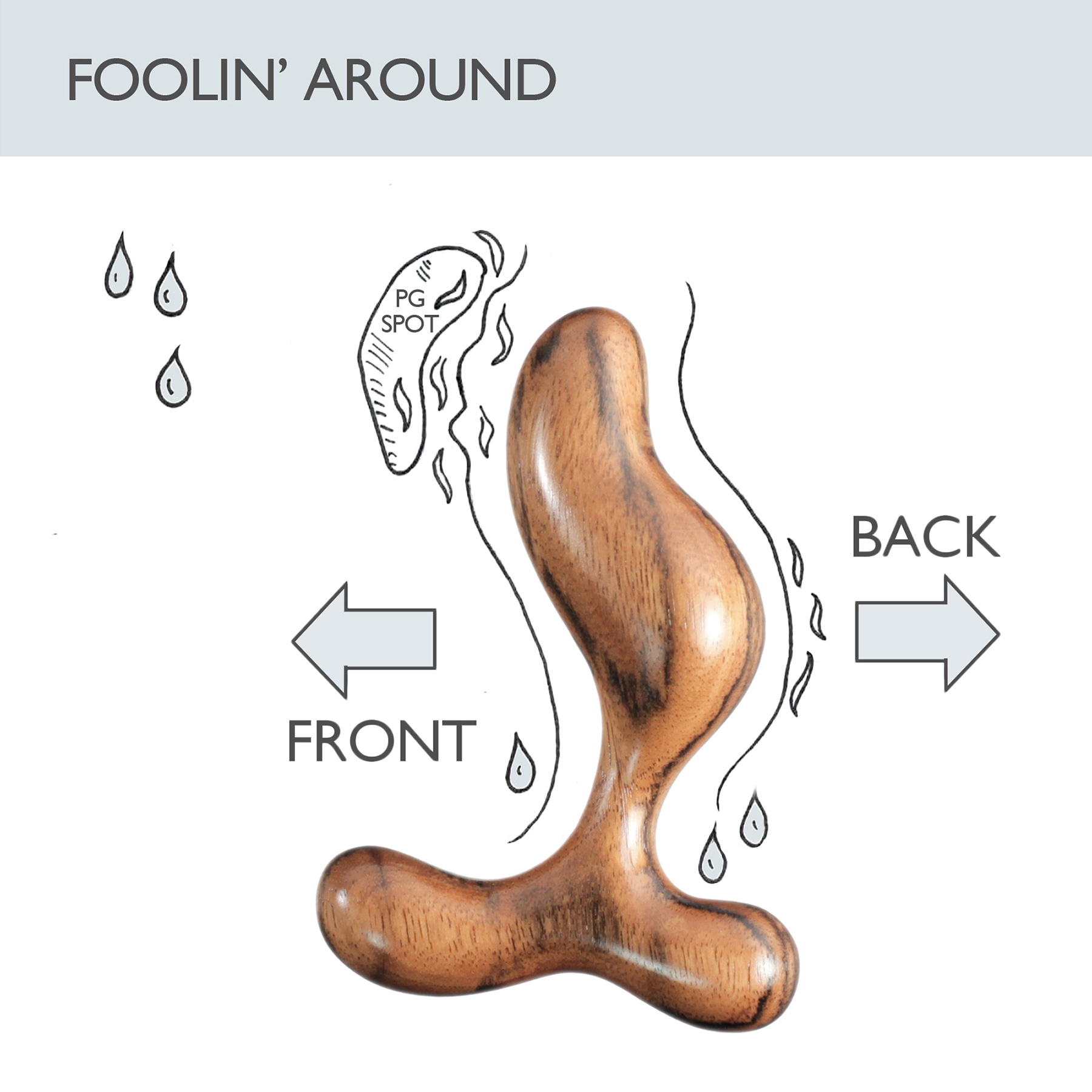 NobEssence Romp 2.0 Sculptured Hardwood Prostate Massager - Foolin' Around