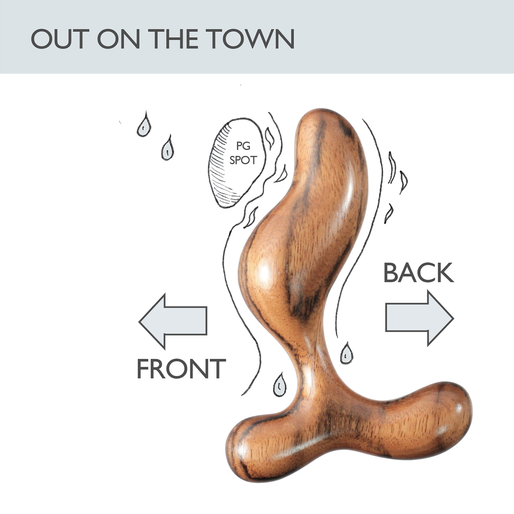 NobEssence Romp 2.0 Sculptured Hardwood Prostate Massager - Out On The Town