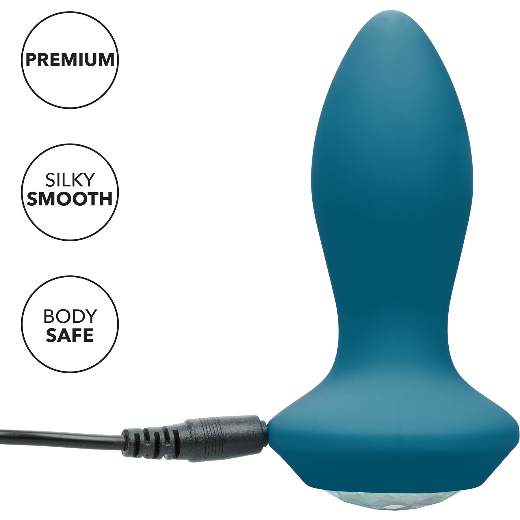 Power Gem Silicone Vibrating Petite Crystal Probe - Features