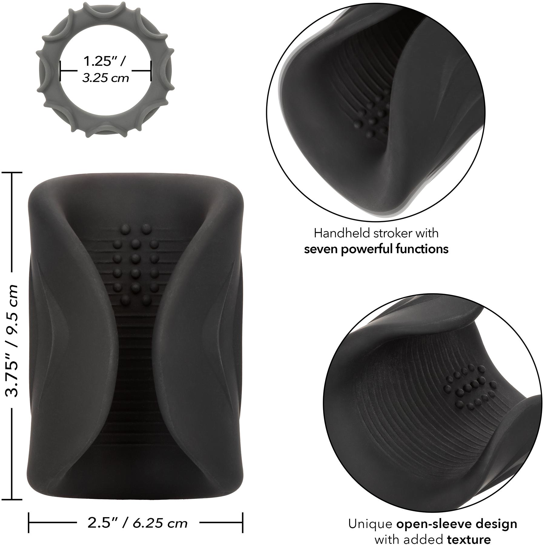 Optimum Power Pro Stroker Silicone Rechargeable Penis Masturbator - Measurements