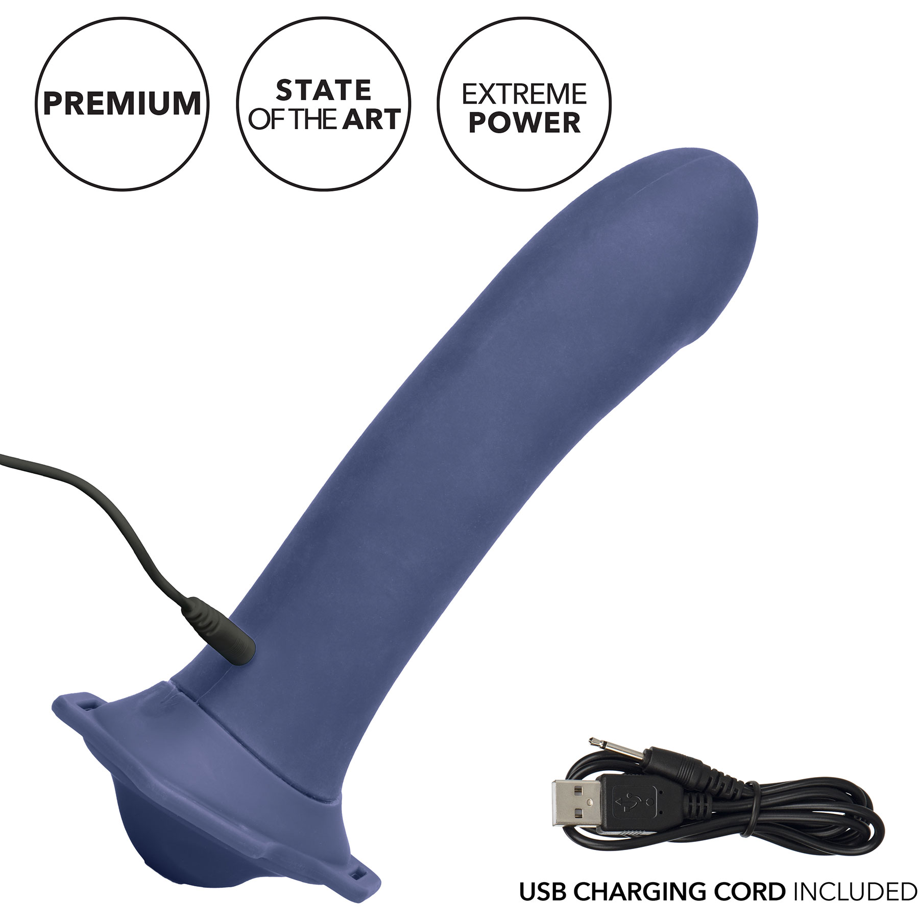 Her Royal Harness ME2 Thumper Set With Pulsing, Vibrating Silicone Probe - Included