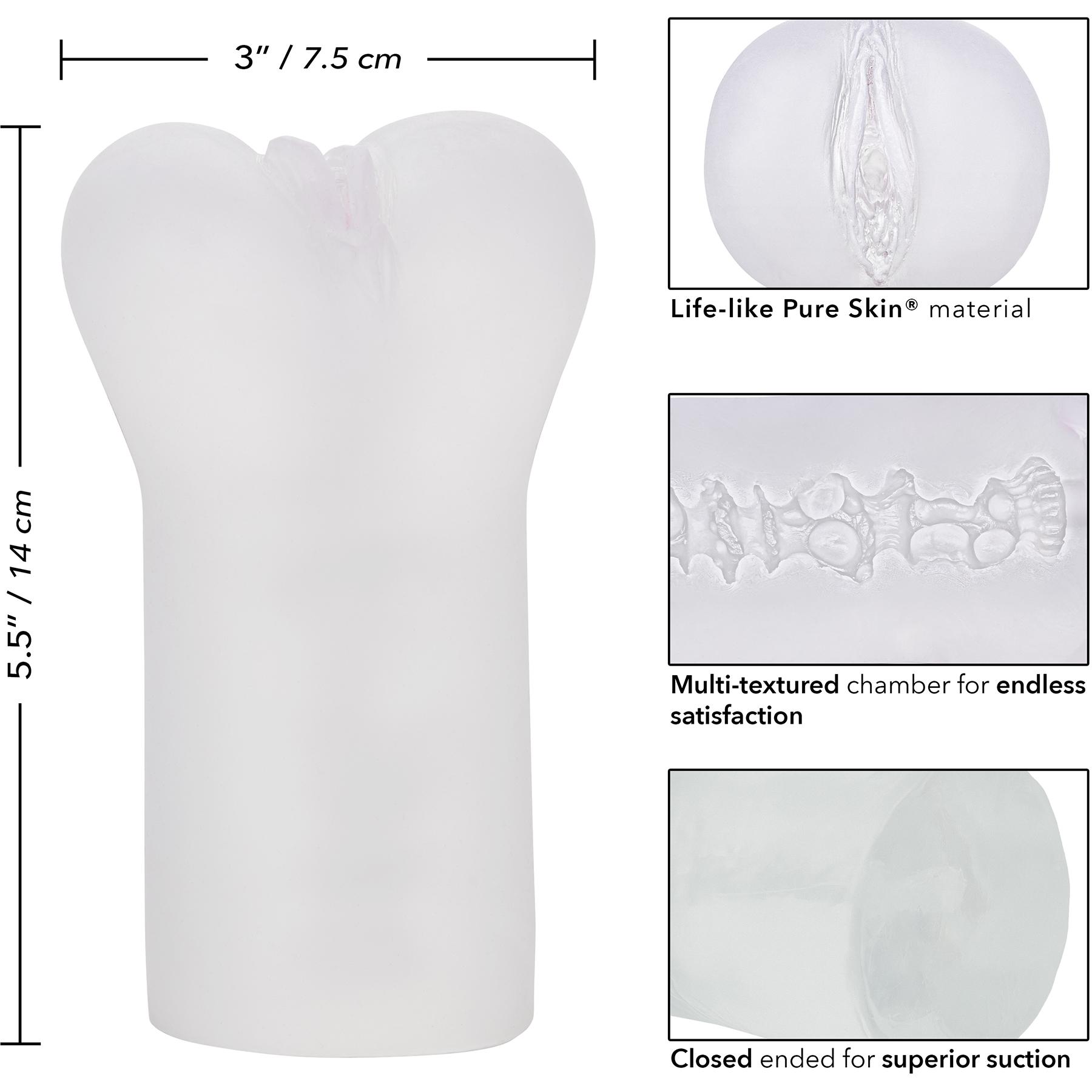 Boundless Vulva Penis Masturbator By CalExotics - Measurements