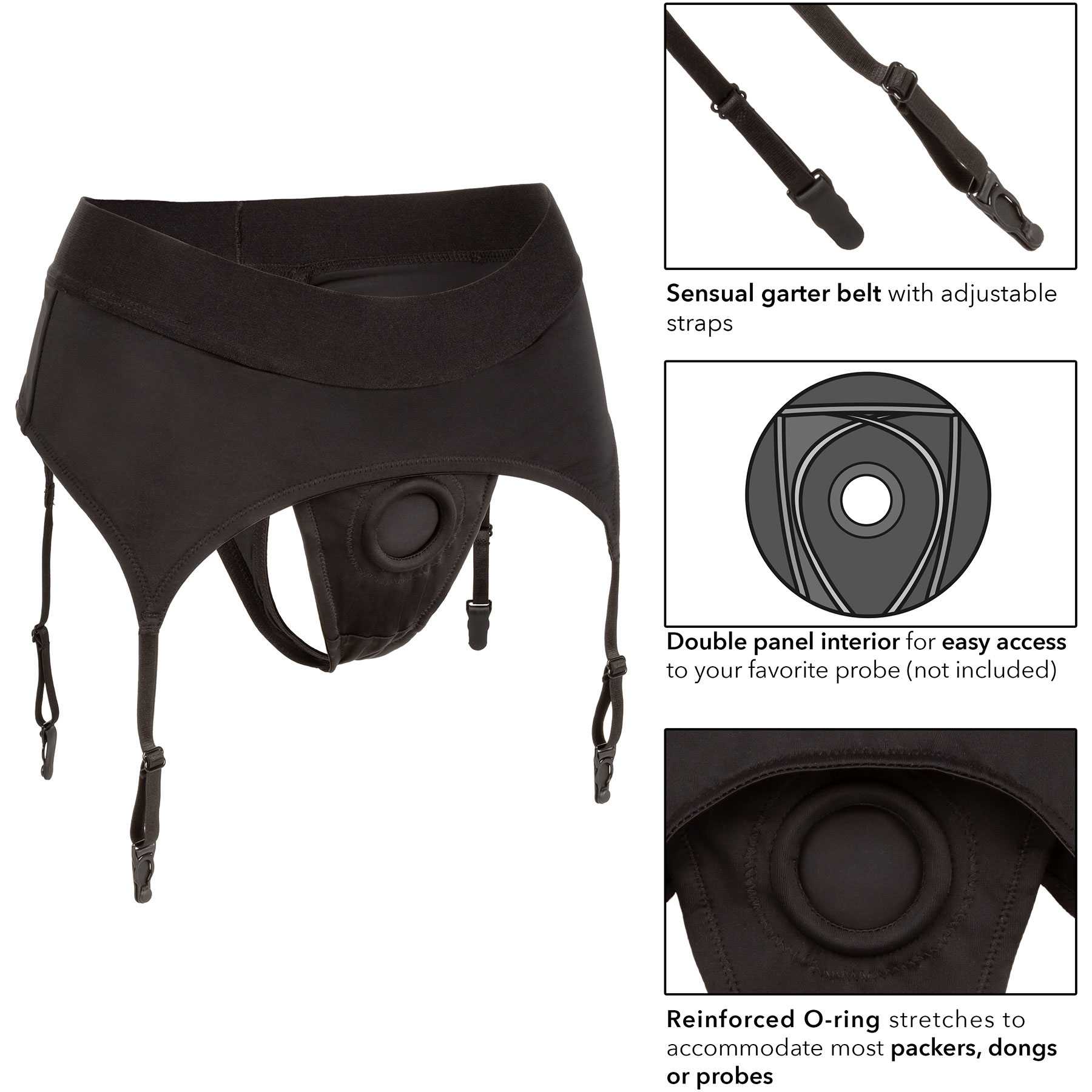 Boundless Thong With Garter Strap-On Harness - Details