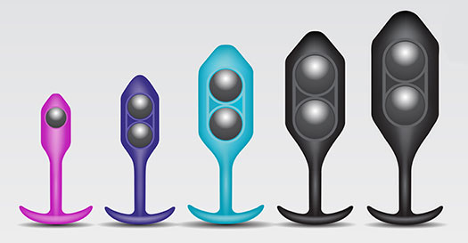 b-Vibe Snug Plug 5 XXL Silicone Weighted Butt Plug - Weights