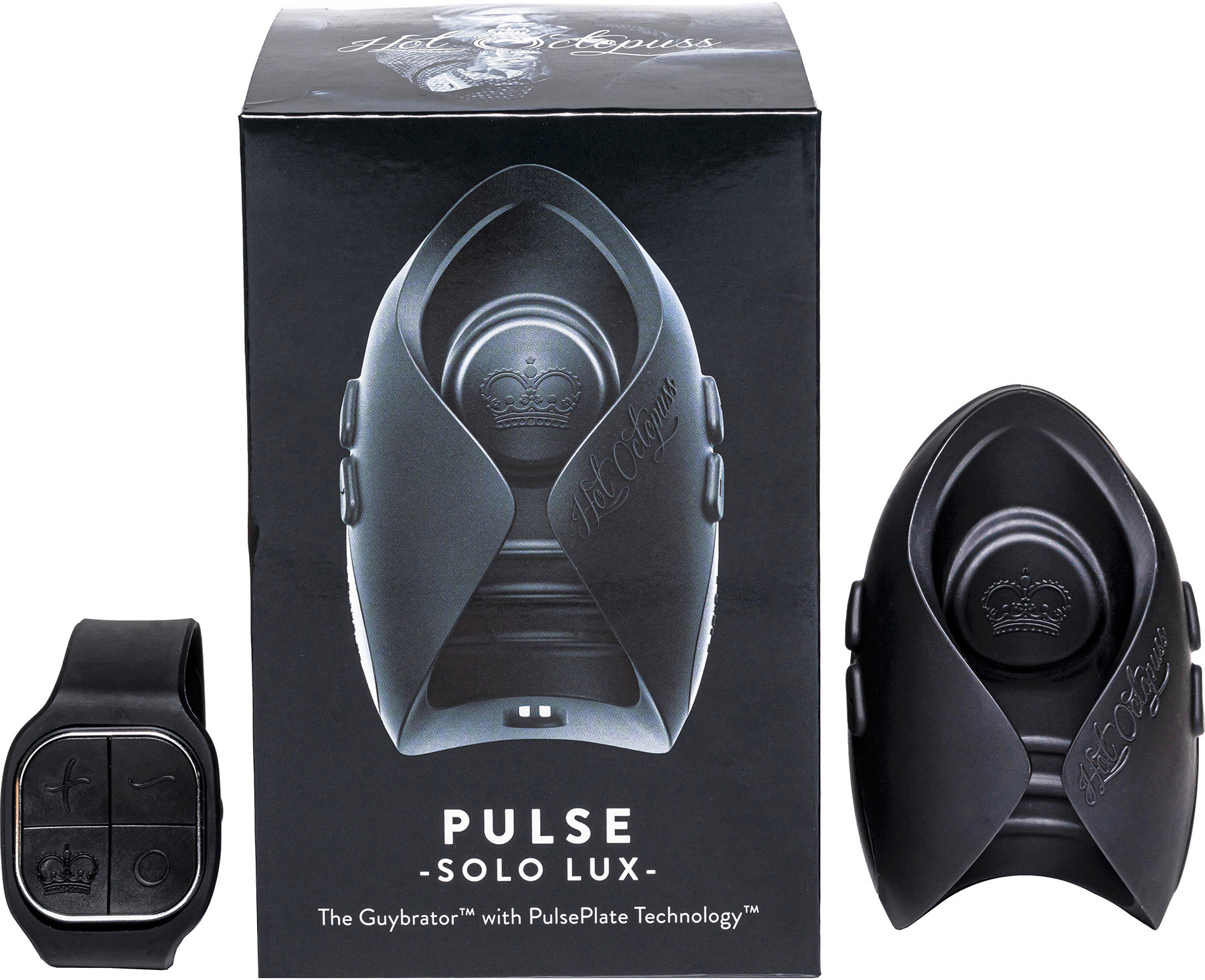 PULSE SOLO LUX Remote Control Oscillating Penis Masturbator by Hot Octopuss - With Package