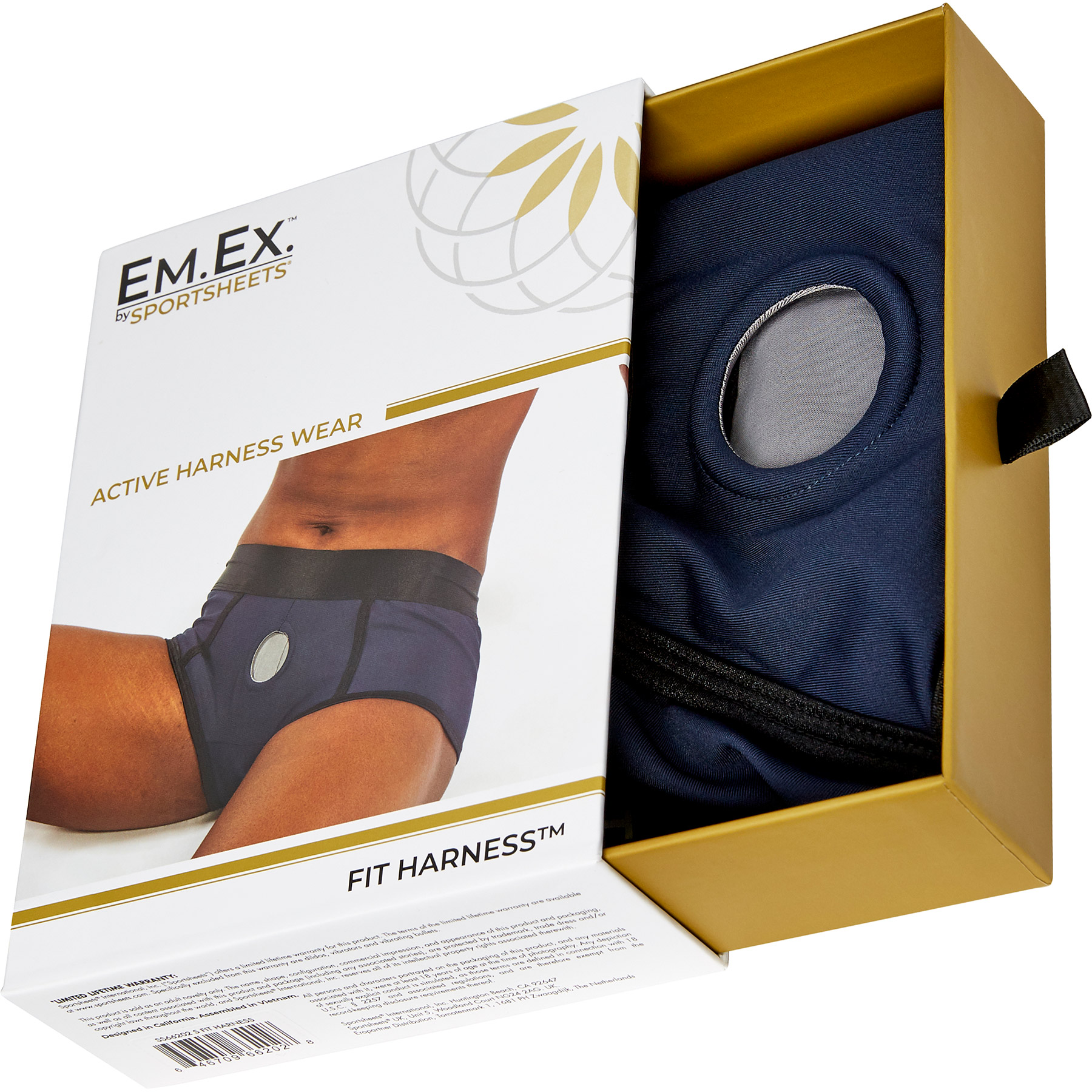 EM.EX. Active Harness Wear - Fit Strap-On Harness Brief - Package