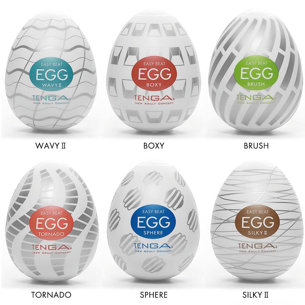 Tenga EGG Penis Masturbator Variety Six Pack - New Standard Edition Packaging