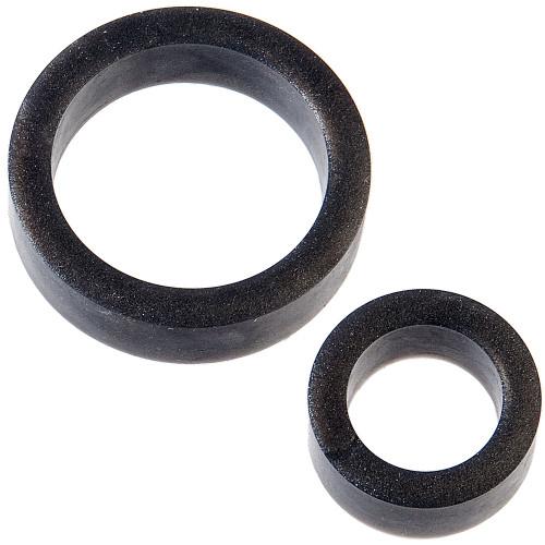 Doc Johnson Platinum Premium Silicone - The C-Rings - Charcoal