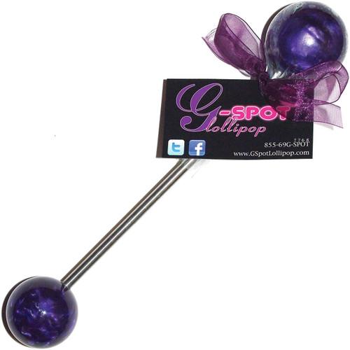 G-Spot Lollipop Double Pop Small / Medium - Passion Purple