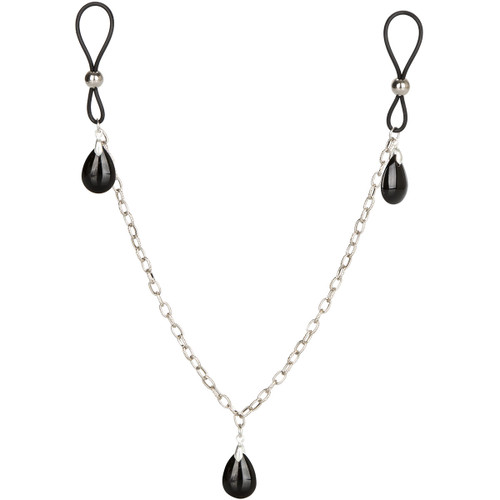Nipple Play Non-Piercing Nipple Chain Jewelry by CalExotics - Onyx