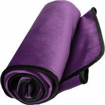 "Fascinator King Size Lush Throw Moisture-Proof Sensual Blanket - Velvish Plum 76"" x 80"""