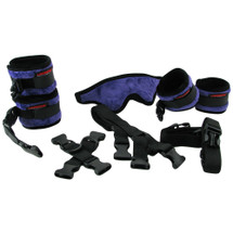 Liberator Black Label Bed Buckler Restraint System - Fluffy Purple