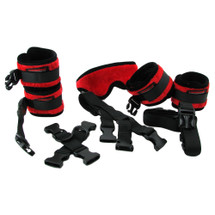 Liberator Black Label Bed Buckler Restraint System - Fluffy Red