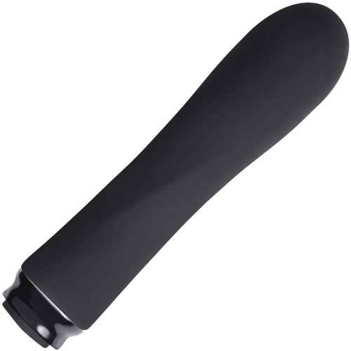 Luxe Scarlet Waterproof Silicone Mini Rechargeable Vibrator - Black
