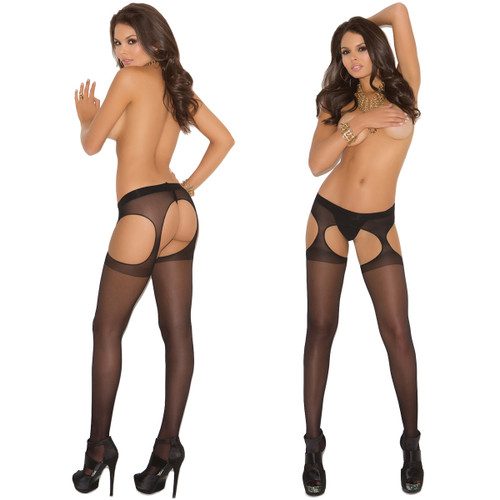 Elegant Moments Sheer Suspender Pantyhose