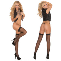 Elegant Moments Fishnet Thigh-High With Back Seam