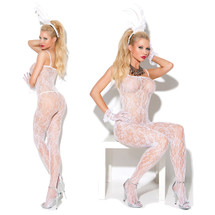 Vivace White Lace Bodystocking by Elegant Moments