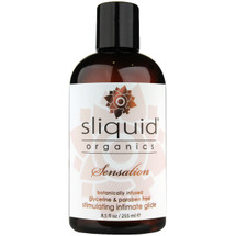 Sliquid Organics Sensation Aloe Based Stimulating Lubricant 8.5 fl oz