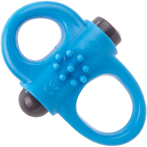 Charged Yoga Rechargeable Vibrating Cock Ring By Screaming O - Blue