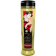 Shunga Erotic Massage Oil - Romance - Sparkling Strawberry Wine Scented 8 fl. oz