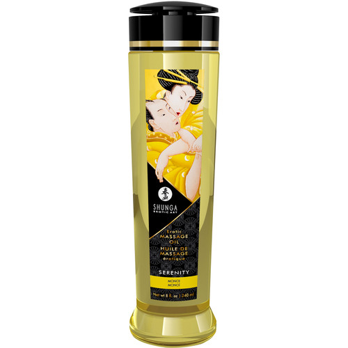 Shunga Erotic Massage Oil - Serenity - Monoi Scented 8 fl. oz