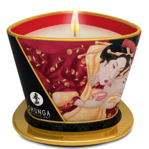 Shunga Soy Based Massage Candle - Sparkling Strawberry Wine