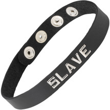 Spartacus Wordband Collar - Slave, Black