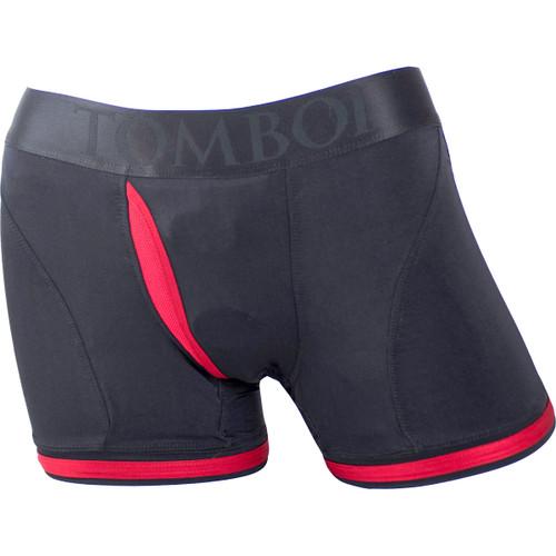 SpareParts Tomboii Harness Boxer Briefs - Black & Red