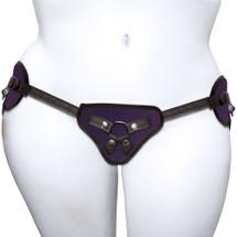 Plus Size Beginner's Purple Strap-On Harness by Sportsheets