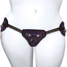 Curvy Collection Plush Purple Strap-On Harness by Sportsheets