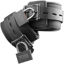 Tom of Finland Neoprene Wrist Cuffs With Lock