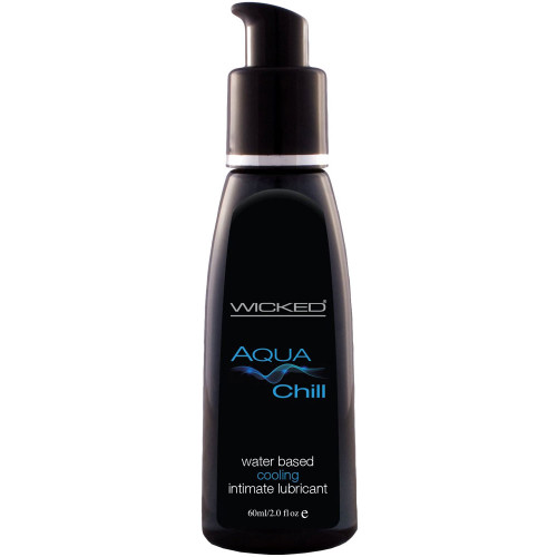Wicked Aqua Chill Water Based Personal Lubricant 2 fl oz