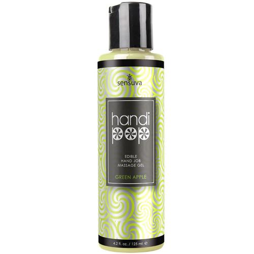 HandiPop Edible Handjob Massage Gel by Sensuva 4.2 fl oz - Green Apple