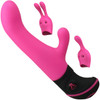Butch Cassidy 20-Function Silicone Rabbit Vibrator With Attachments By Adrien Lastic