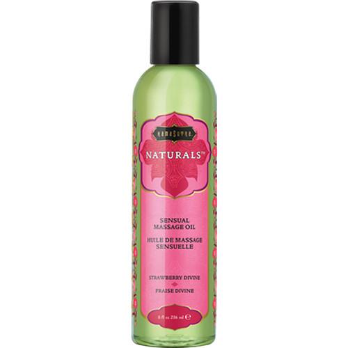Kama Sutra Naturals Massage Oils Strawberry Divine 8 fl oz