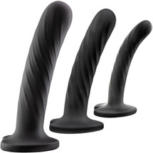 Temptasia Twist Kit - Set of Three Dildos - Black