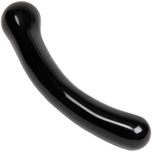The Xaga Curve Black Obsidian Crystal Dildo By Chakrubs