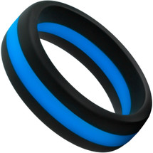 Performance Silicone Go Pro Cock Ring By Blush - Black & Blue