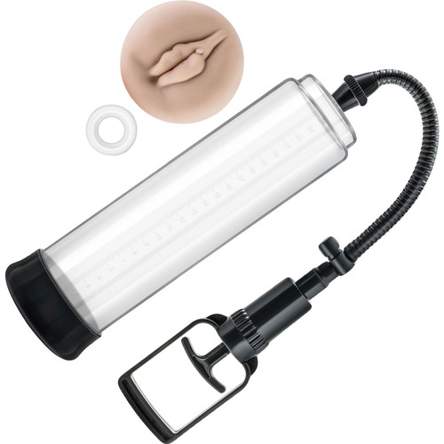 Performance VX5 Male Enhancement Penis Pump System With Realistic Sleeve By Blush - Clear