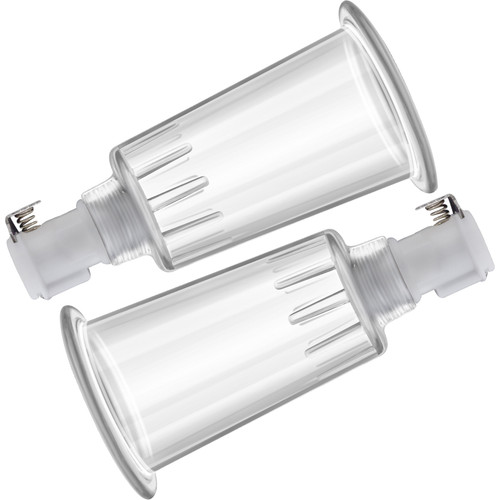 Temptasia Nipple Pumping Cylinders – Set of 2, 1 Inch Diameter By Blush