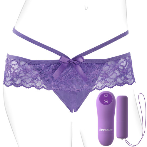 Fantasy For Her Crotchless Panty Thrill-Her - Remote Control Vibrating Panty