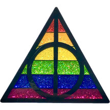 "Glitter Filled Potter Pride 1.5"" Soft Enamel Pin By Geeky And Kinky"