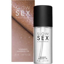 Slow Sex Warming Massage Oil By Bijoux Indiscrets - 1.69 oz
