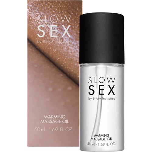 Slow Sex Warming Massage Oil By Bijoux Indiscrets - 1.69 oz