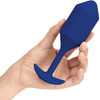 b-Vibe Vibrating Snug Plug Large Rechargeable Vibrating Anal Toy - Navy