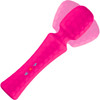 Ultra Wand Rechargeable Silicone Waterproof Wand Style Vibrator By FemmeFunn - Pink