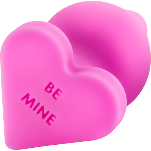 Play With Me Naughty Candy Heart Silicone Butt Plug By Blush - Be Mine Pink