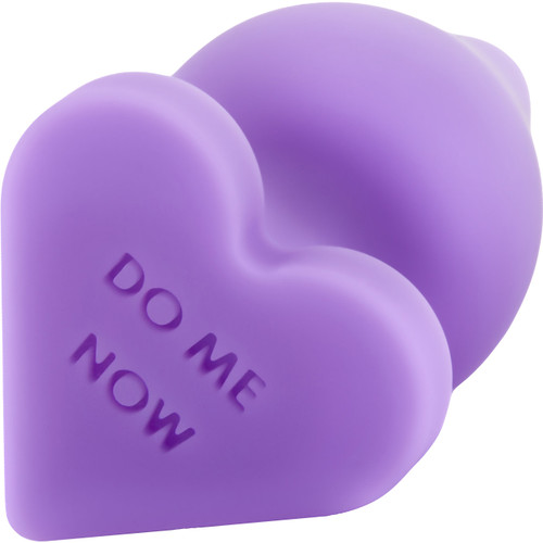 Play With Me Naughty Candy Heart Silicone Butt Plug By Blush - Do Me Now Purple