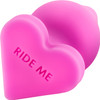 Play With Me Naughtier Candy Heart Silicone Butt Plug By Blush - Ride Me Pink