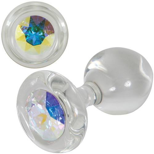 Aurora Borealis Glass Butt Plug By Crystal Delights